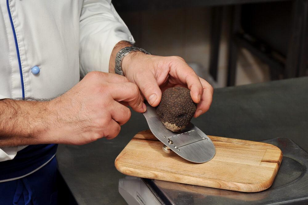 Chef Shaving Black Truffles